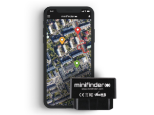 Elektronisk körjournal app MiniFinder Zepto GPS tracker
